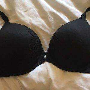 Black with Lace Detail VS Bra